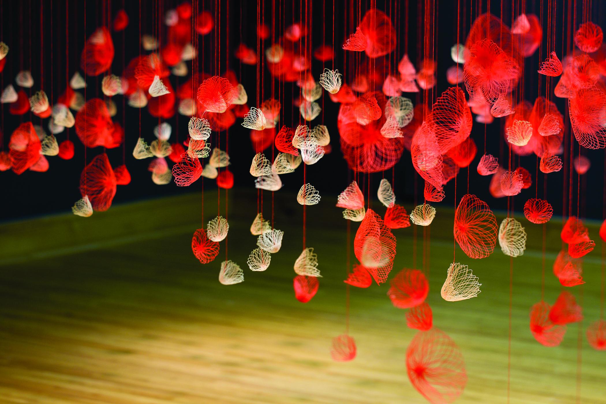 Amanda McCavour, Neon Bloom 2014 – 15, Thread/machine embroidery