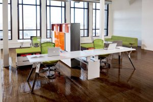 upStage Desking System. Photo courtesy of Teknion