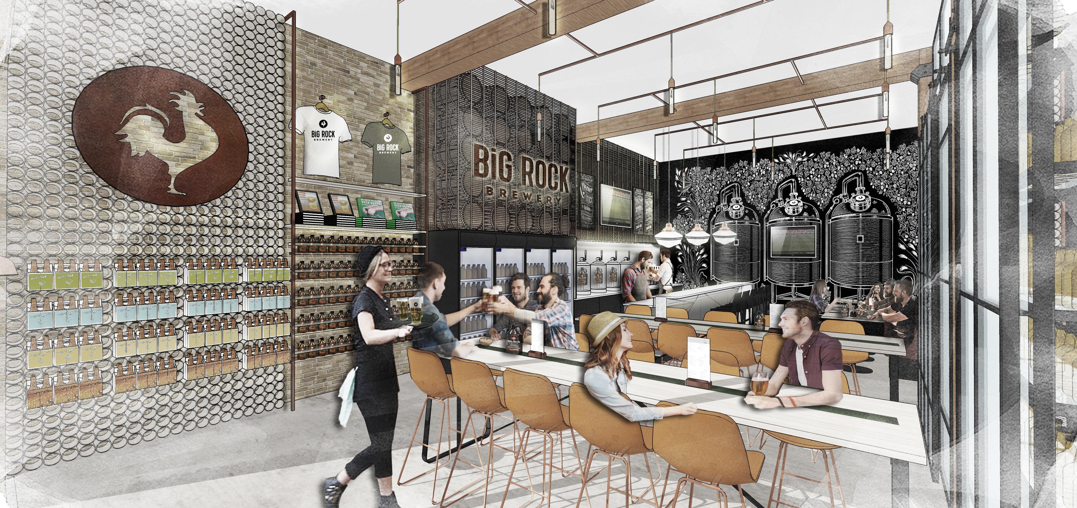 Big Rock Tasting Room; Rendering by DesignAgency