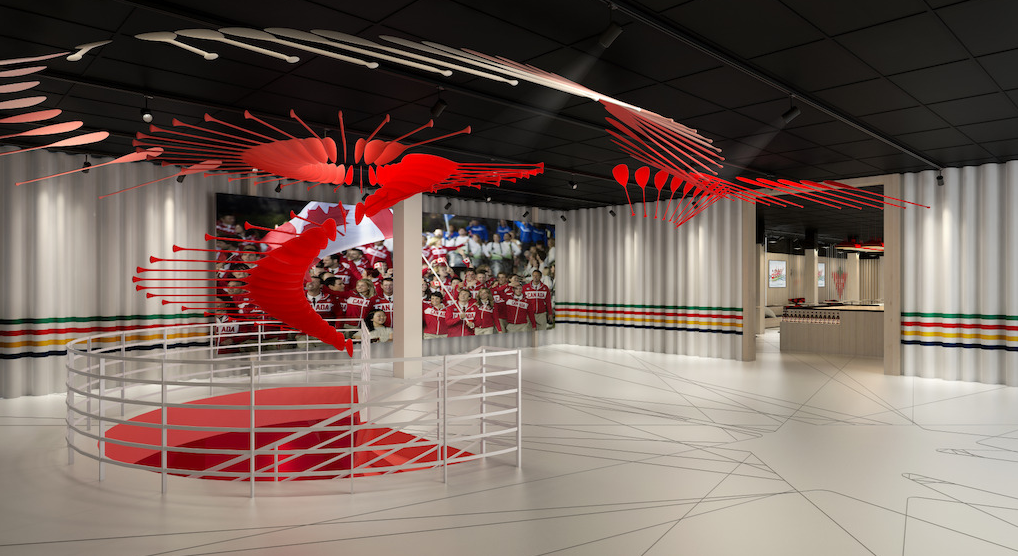 Welcome Hall, Canada Olympic House | Credit: Canadian Olympic Committee