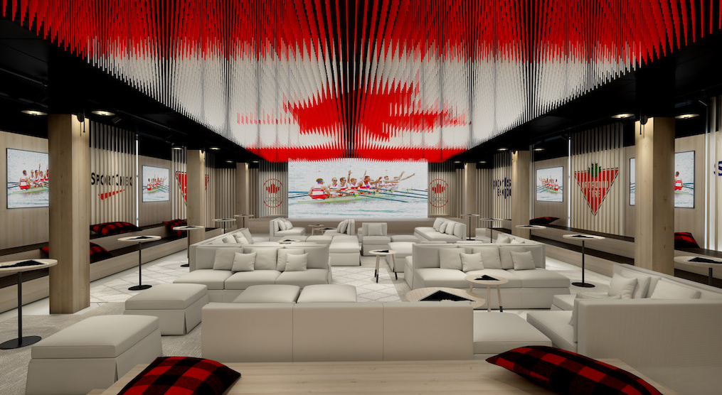 Celebration Lounge, Canada Olympic House | Credit: Canadian Olympic Committee