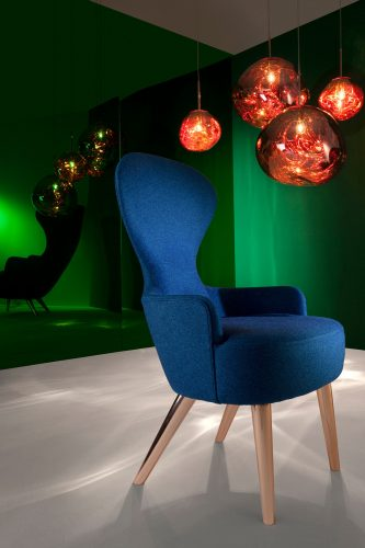 Tom Dixon Melt Copper and Wingback Chair. Image Courtesy of Tom Dixon