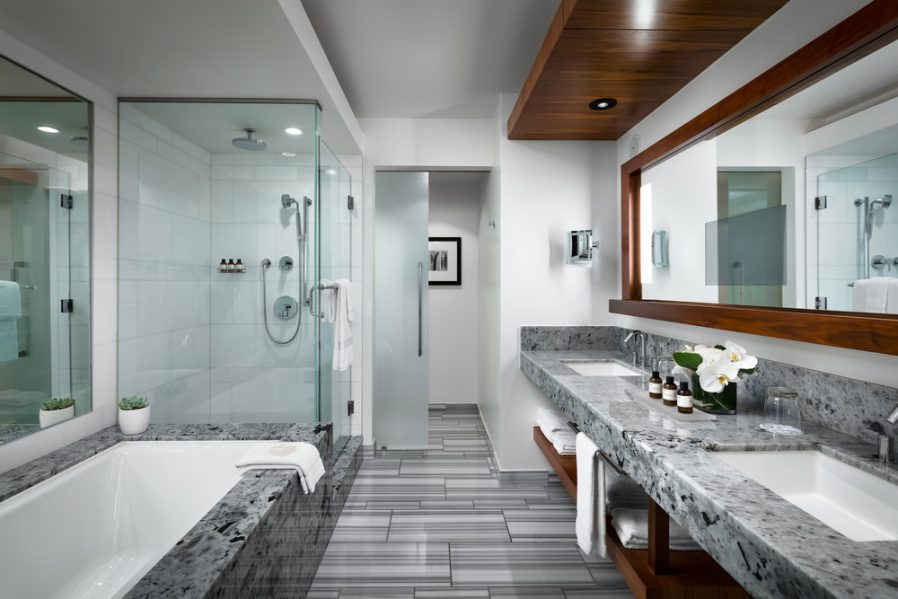 Master Bathroom. Photo credit: Fairmont Pacific Rim