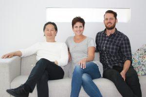 L. to R.: Johnson Chou; Sue Bennett; Jeremy Vandermeij (not pictured: Scot Laughton).