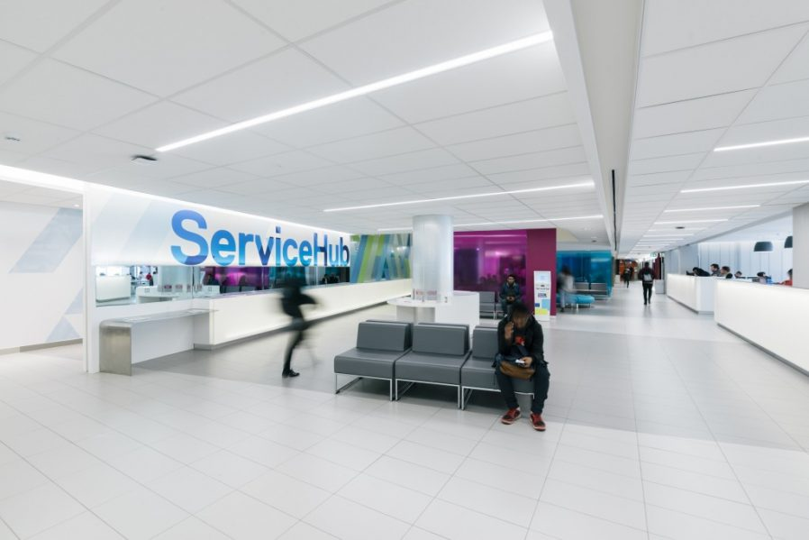 Ryerson University Student ServiceHub, Gow Hastings Architects. Photo by Remi Carreiro.