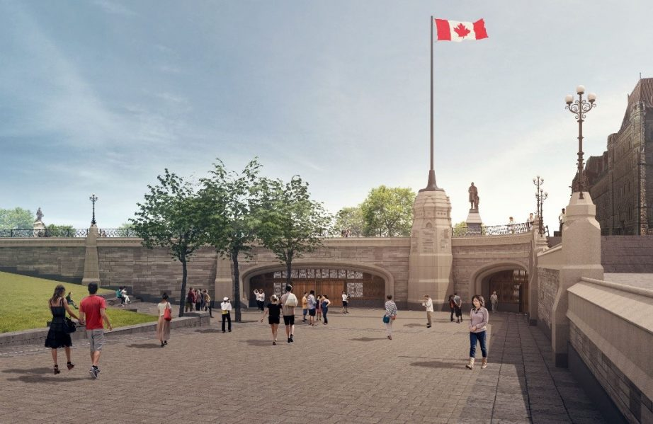 Artist's rendering of the Visitor Welcome Centre Phase 1 entrance.