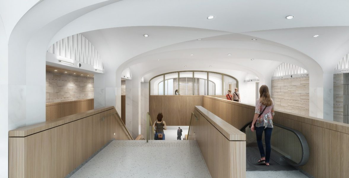 Artist's rendering of the interior of the Visitor Welcome Centre Phase 1.