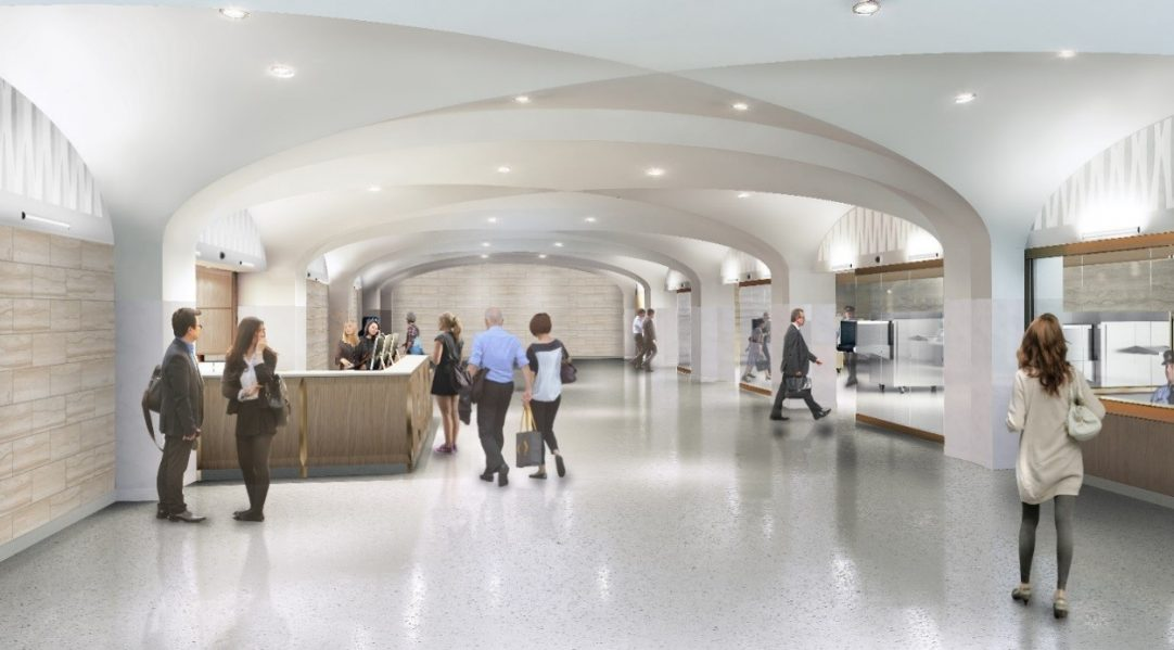 Artist's rendering of the entrances of the Visitor Welcome Centre.