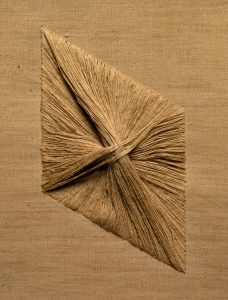 Study for Ford Foundation Installation, 1967(detail)linen ground with inset linen thread18 1/16 x 15 x 1 7/16 in.The Cleveland Museum of Art, Gift of Mildred Constantine, 1999.165Photography © The Cleveland Museum of Art