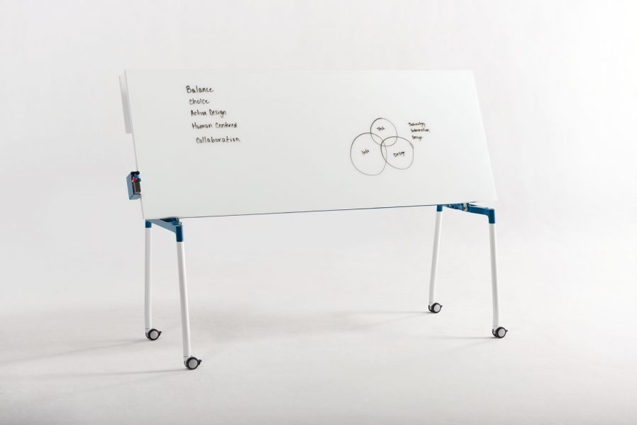 Thesis Flip-Top Table and Marker Board.